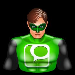 greenlantern, super hero, technorati icon