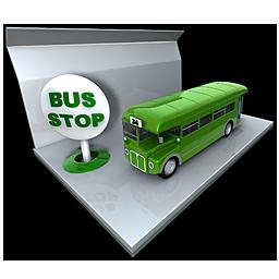 Bus Public Transportation Stop Icon