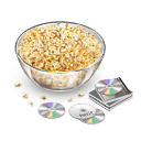 movie, popcorn, snack icon