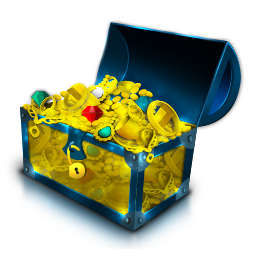 chest, coins, gold, imvu, treasure icon