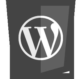 blogging, wordpress icon