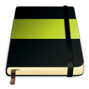 green, moleskine icon