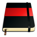moleskine, red