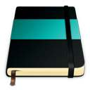 moleskine, turquoise icon
