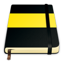 moleskine, yellow icon