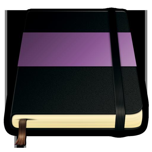 moleskine, violet icon