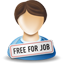 free for job, person icon