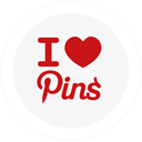 ilovepins, pinterest, round icon