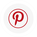 logo, pinterest, round icon
