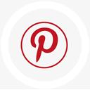 logo, pinterest, round