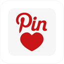 pinlove, pinterest, square icon