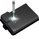 folder, laser icon