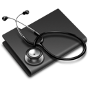 folder, stethoscope icon