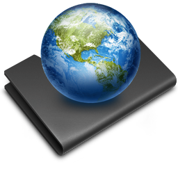 earth, folder, sites icon