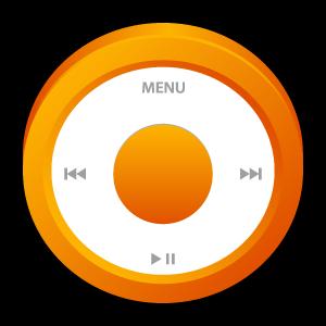 ipod, orange icon