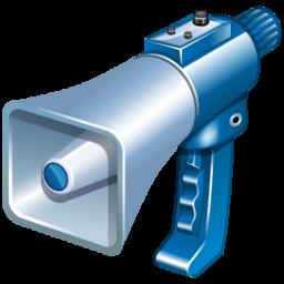 comments, megaphone icon