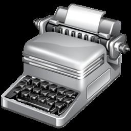 publish, typewriter icon