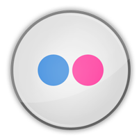 flickr, social media icon