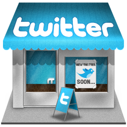 shop, twitter icon