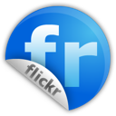 flickr, sticker icon