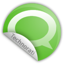 sticker, technorati icon