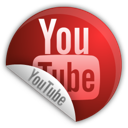 sticker, youtube icon