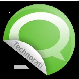 sticker, technorati icon