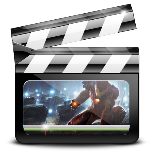 graphic, ironman, motion, movie, video icon