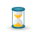 clock, hourglass, sand, time, wait icon