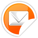 mail, orange icon