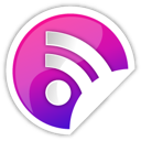 purple, rss icon