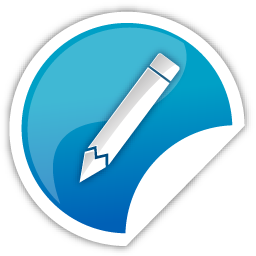 blue, pencil icon