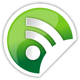 green, rss icon