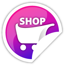 purple, shop icon