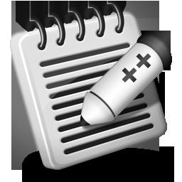 ++, notepad, whack icon