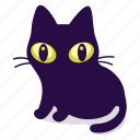 cat, feline, halloween icon