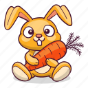 bunny, carrot, hare, rabbit icon
