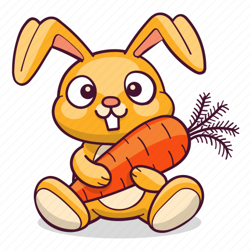 Bunny, carrot, hare, rabbit icon - Download on Iconfinder