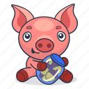 acorn, animal, pig, piglet icon