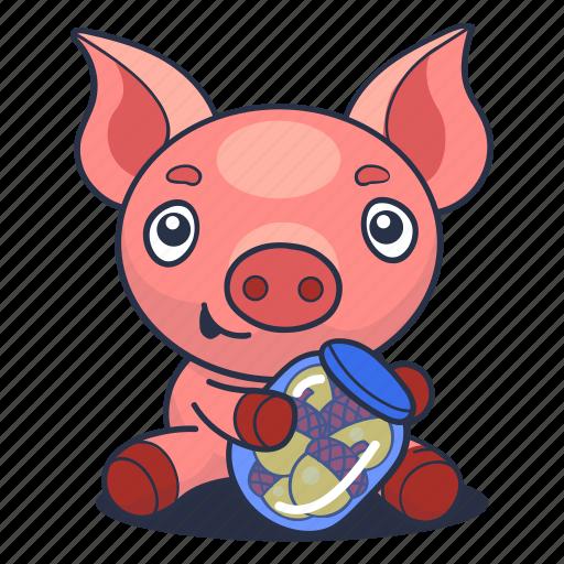 Acorn, animal, pig, piglet icon - Download on Iconfinder