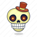 bone, dead, halloween, skull icon