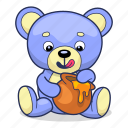 bear, honey, teddy, toy icon