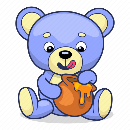 Bear, honey, teddy, toy icon - Download on Iconfinder