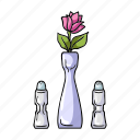 appliance, flower, pepper shaker, restaurant, salt shaker, serving, vase icon