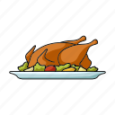 chicken, cooking, dish, food, meat, poultry, restaurant icon