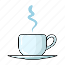 cafe, coffee, cup, drink, restaurant, saucer, tea icon