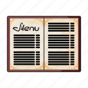 bar, cafe, flyer, food, menu, restaurant, template icon