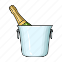 alcohol, bucket, champagne, drink, ice, restaurant, wine icon