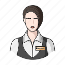 administrator, cafe, profession, restaurant, service, staff, waiter icon