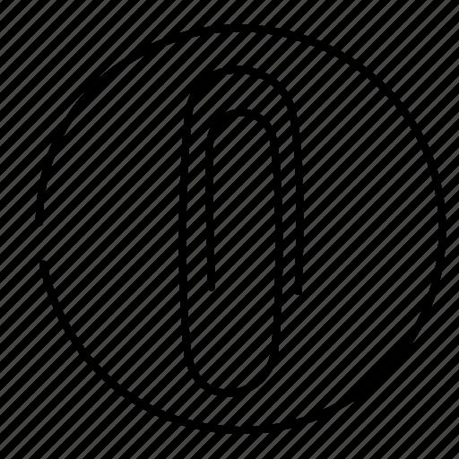 attach, file, paperclip icon